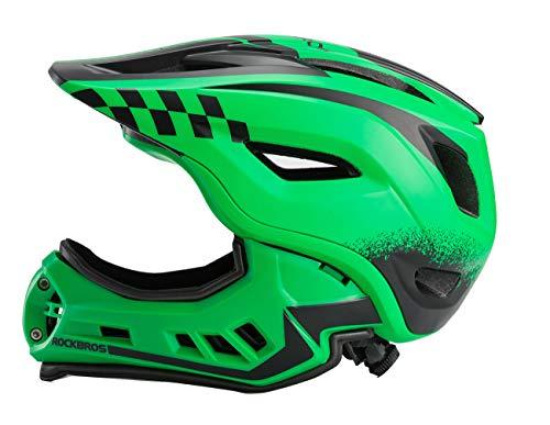 ROCKBROS Casco Integral para Ciclismo BMX Infantil Desmontable Ajustable Protección con 12...