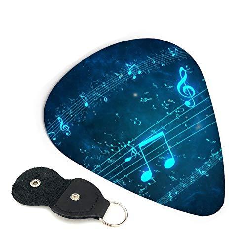 Púas de guitarra con notas musicales, paquete de 6, adecuado para guitarra, ukelele, bajo, guitarra eléctrica-346