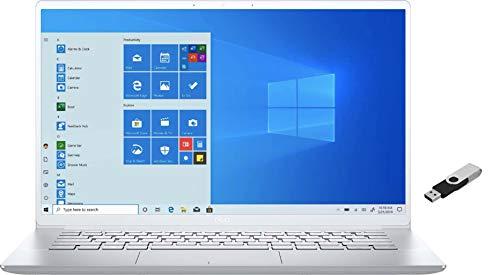2021 Dell Inspiron 7000 14' FHD Laptop Computer 10th Gen Intel i7-10510U 8GB LPDDR3 512GB NVMe SSD Intel UHD Graphics Webcam Bluetooth Wi-Fi HDMI Windows 10 Home Backlit Keyboard w/ Ontrend 32GB USB