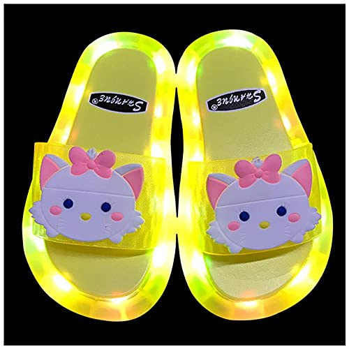 Perferct Womens Slippers Size 5,Mother And Daughter Led Flashing Slippers,Cartoon Children Cat Slippers,Summer Cute Princess Non-Slip Flashing Flashing Sandals, For Girl-I 40/41 (245mm / 9.65')_