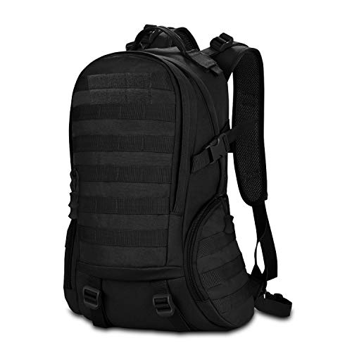 CX&LL 40L Taktischer Militärischer Rucksack für Wandern Reisen Trekking Tasche Tactical Bag Assault Backpack Military Camping Pack Outdoor Daypacks, Schwarz