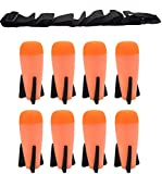 8 Pack Mega Missile Refill with Carrying Strap - Toy Rocket Launcher Ammo for Nerf N-Strike Elite Series
