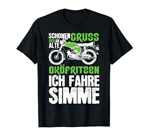 Anti Öko Simme Spruch Moped Simson-S51 T-Shirt