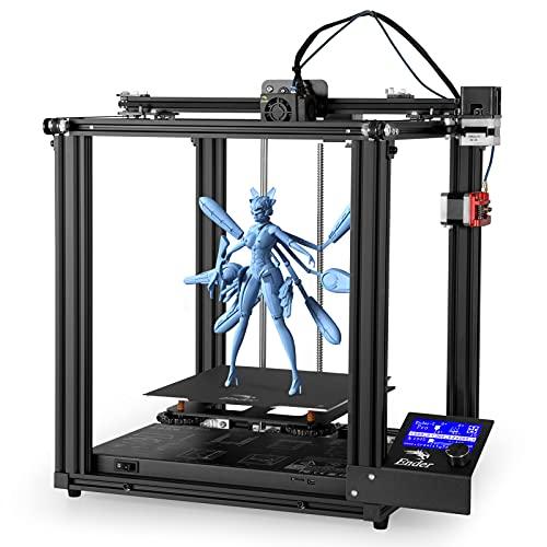 Creality Ender 5 Pro Stampante 3D, Scheda Madre Ultra Silenziosa, Piattaforma Rimovibile, Unità di Estrusione del Metallo, Stampa Stabile, Grande Dimensione di Stampa 220 * 220 * 300mm