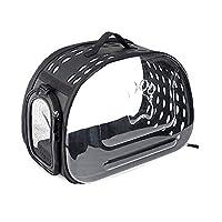 ペットハンドバッグ透明ソフトバッグ両面小型犬子犬猫ペット旅行にやさしい快適な柔らかい犬安全で快適な持ち運びペットおでかけ用品スペースバッグ