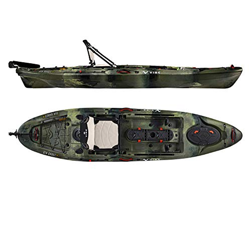 Vibe Kayaks Sea Ghost 110 11 Foot Angler Sit On Top Fishing Kayak with...