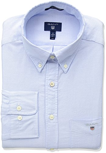 GANT Herren The Oxford Shirt REG BD Hemd mit Button-Down-Kragen, Blau (Capri Blue 468), 4XL