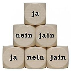 """ja-Nein-Jain"" Holzwürfel 30 mm - 1 Stück"