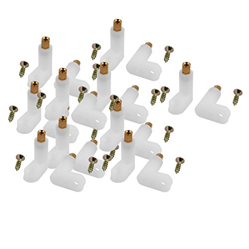 Aexit 20 Pcs Spacers & Standoffs L Shape Insulated PCB Spacer 25mm Supporting Height w Standoffs Self-Tapping Screw
