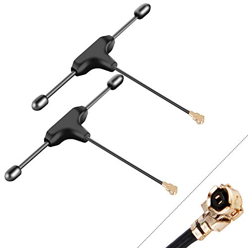 FPV Antenna TBS Crossfire Receiver Mini T Antenna IPEX Big Connector for RC FPV Racing Drone/Quadcopter Black(2pcs)