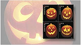 Jack o Lanterns USPS Forever First Class Postage Stamp U.S. Halloween Autumn Sheets (40 Pumpkin Stamps) (2 Books of 20)