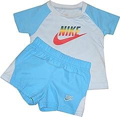 Nike Juego Camiseta y Pantalón Corto 100% Algodón para Niños