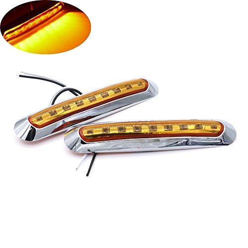 Feux de position latéraux, HEHEMM 9 LED 2PCS Feux arrière Voyants lumineux Feu de freinage Lumière de dégagement Lampe de position Bande annonce Lampes de récupération voiture 10-30 V (Jaune)