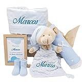 Cesta de Bebé Candy Sweet | Set Regalo Bebé Personalizado | Canastilla Bebé (Azul)