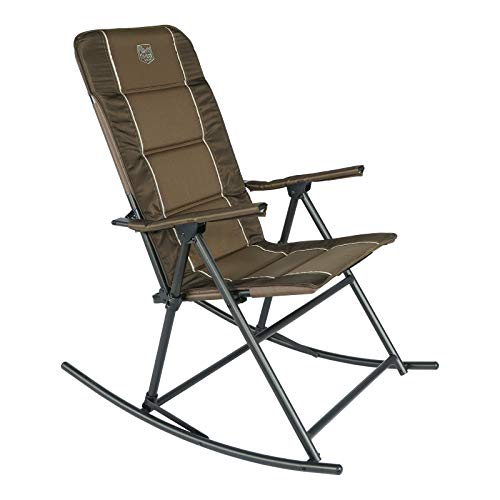 TIMBER RIDGE High Back Folding Camping Rocking Chair Hard Armrest, Support up to 300 lbs