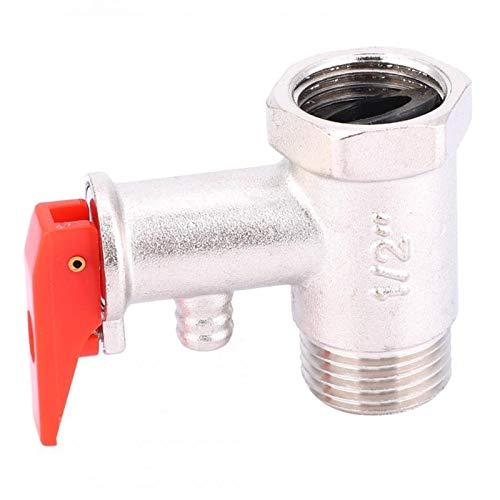 FLY MEN Herramientas Profesionales 1 PCS Válvula de Seguridad Calentador de Agua Alivio de presión Compruebe el latón Níquel Pizarra 0.9MPA G1 / 2in Válvula de retención Industria, Máquinas