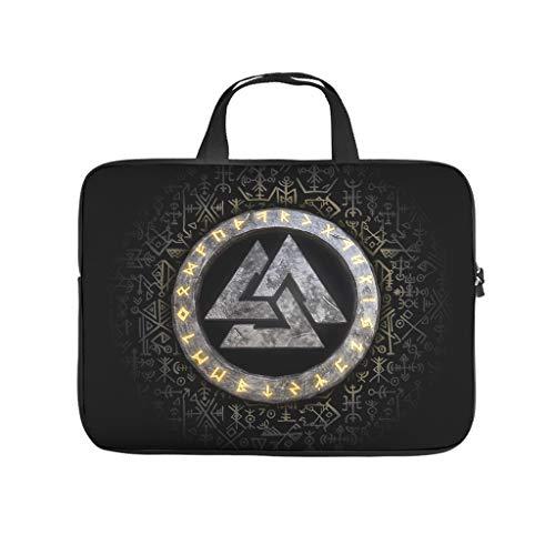 Vik-ing Rune Valknut - Bolsa de hombro para ordenador portátil y tablet para el profesional de negocios, viajes, color blanco