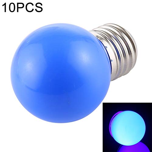 Lichte Bulbs 10 PCS 2W E27 2835 SMD Home Decoration LED-lampen, DC 24V (blauw licht) LED-lampen (Color : Blue Light)