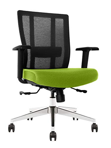 Bitchair Ergonomic Mesh Office Chair in Black (Green)