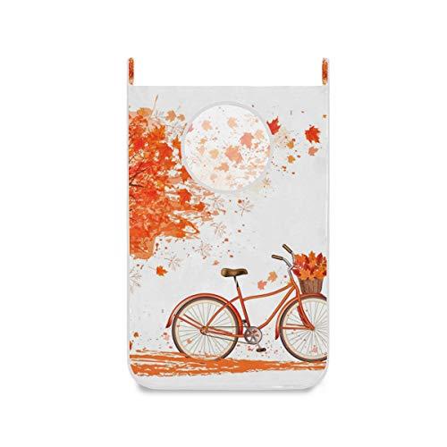 XiangHeFu stoffen zak herfstboom fietsmand opvouwbare grote bureaudeur hangmand wasmand