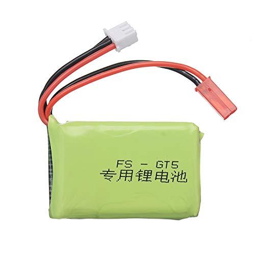 RFGTYH 7.4v 1500mAh Lipo Batteria e Caricabatterie per Flysky FS-GT5 MC6C/MCE7 2.4G 6CH Trasmettitore 2s Batteria per RC Car Boat Black