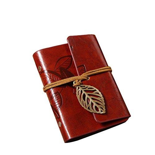 Pixnor Kartenschutz Ärmel Blatt Design Imitation Leder Karte Pack Halter Kartenschutz Tasche braun