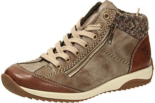 Rieker Damen L5223-24 Hohe Sneaker, Braun (Brandy/Cigar/Terra 24), 40 EU