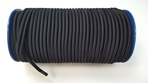 Corde d'arrimage élastique noire pour bateaux, remorques, 10m