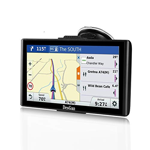 "GPS Navigation for Car, 7"" HD Touch Screen 8GB-256MB Real Voice Spoken Turn-by-Turn Direction Reminding Navigation System for Cars, Rapid Positioning with Free Lifetime Map Update"