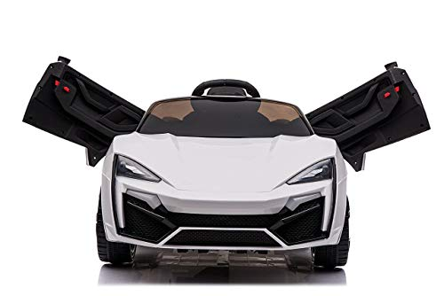 Toy House Fast n Furious Lykan Hypersport Car Rechargeable Battery Operated Ride-on for Kids(2 to 7yrs), White