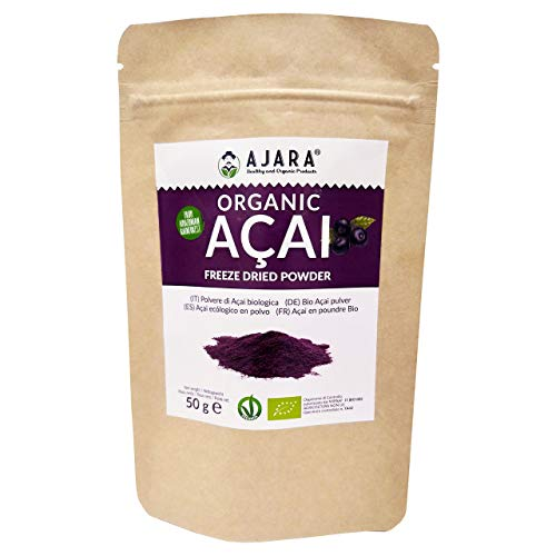 Acai in polvere Biologica [freeze dried] 50 grammi in sacchetto salva freschezza