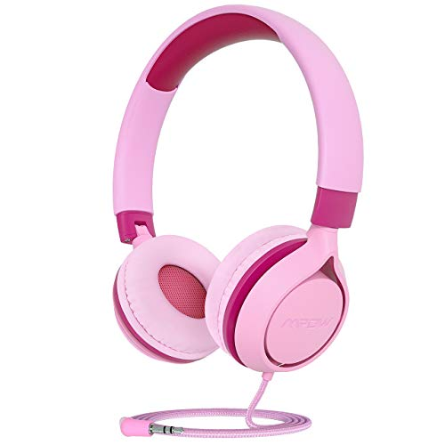 Mpow CHE1 Kids Headphones, Wired Headphones for Kids Teens, Children Headphones with Volume Limit, Foldable Adjustable On-Ear Headphones for School,Travel, Compatible with Cellphones, Tablets, PC