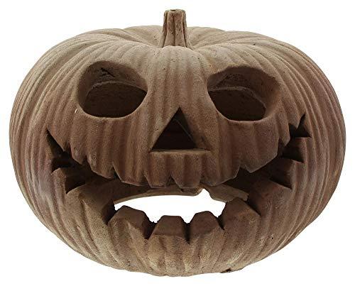 FRANK FLECHTWAREN Großes Kürbis-Windlicht Halloween