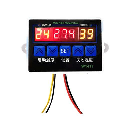 Controlador de Temperatura Digital Inteligente W1411 Termostato de Control de Temperatura del Sensor NTC para la eclosión del refrigerador del congelador