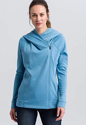 Erima Damen ESSENTIAL Kapuzensweatjacke, Blau (niagara/ink blue), 48