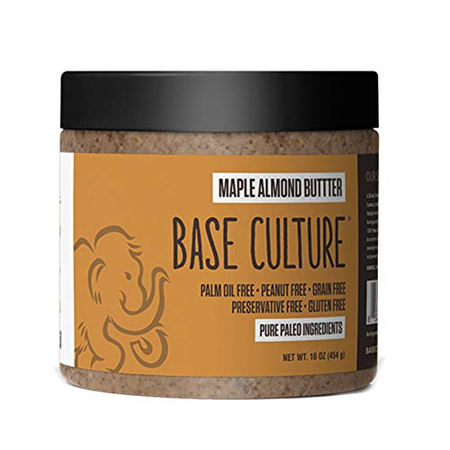 Paleo Almond Butter, Maple Almond, 100% Paleo Certified and Gluten Free Almond Butter, 6g Protein Per Serving, Crafted by Base Culture (1 Count)
