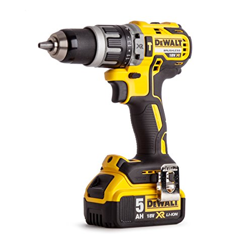 Dewalt DCD796P1-GB XR Brushless Compact Lithium-Ion Combi Drill, 18 V, Yellow/Black, One Size
