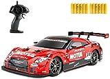 Nsddm RC Sport Racing Drift Hight Speed Veight Vehículo 1/16 RC Coche for Adultos Regalos for niños, 4wd RTR Vehículo con 12 neumáticos de batería y Deriva - Nueva versión
