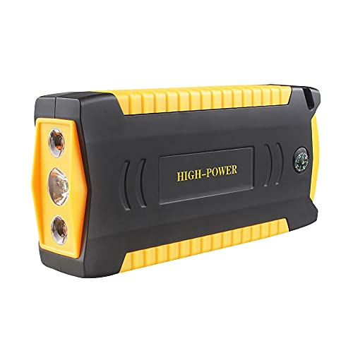 Ajing Arrancador de Coches,20000MA Arrancador de Batería de Coche 12V para 6.0L Gasolinao 4.0L Diesel con Salida de DC, Luz LED, Carga Rápida, Toma de Mechero, Brújula,16.8 * 7.9 * 3.3 cm