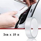 Skymico Pellicola Protettiva per Auto Pellicola Trasparente Pellicola Protettiva per Bordi per Auto Protezione per Auto, Protezione per Bordi Delle Porte, Adatta per la Maggior Delle Auto (3cm × 10m)