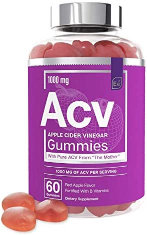 Apple Cider Vinegar Gummies from The Mother All Natural Vegan ACV with Folic Acid and Vitamin product image