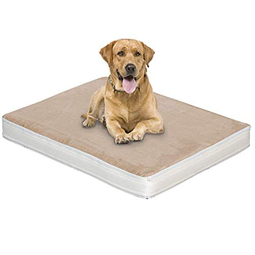 Evergreenweb - Materasso Cuccia Letto 90x115 alto 10 cm per Cane o Gatto di Taglia Grande, Imbottitura Morbida Lastra interna in Schiuma Waterfoam Rivestimento con AIR SPACE Sfoderabile e Lavabile MAX