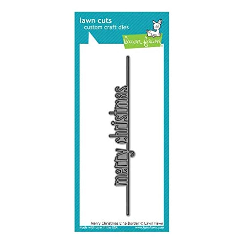 Lawn Fawn Lawn Cuts Custom Craft Die - LF1785 Merry Christmas Line Border