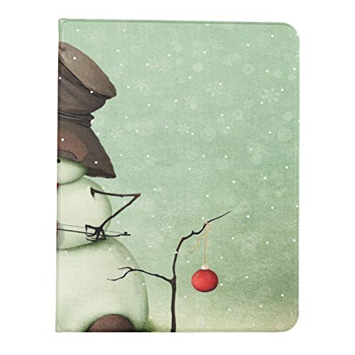 All-New Soft TPU Back Cover Case for iPad Pro 11 2020/2018 with Pencil Holder - Full Body Protection and Auto Wake/Sleep,Holiday Greeting Card Snowman Playing Violin
