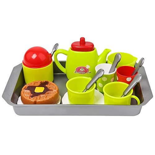 DAJIANG Mini café tetera taza de té conjunto de vajilla de cocina juego de simulación de juguete de los niños regalo tetera taza juego de cocina vajilla de juego de juguete