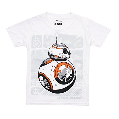 Star Wars Bb8 Unit Camiseta, Blanco, S para Niños