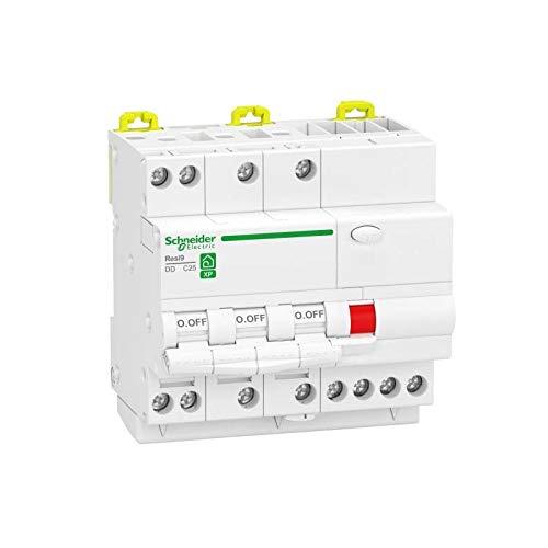 Resi9 XP - Interruptor diferencial (3P + N, 16 A, 30 mA, curva C, tipo Asi