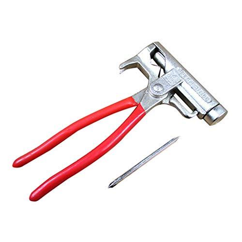Martillo mágico de acero multifunción H.eternal Hammer, martillo portátil para tienda de campaña, construcción, reparación, jardín 0.5 x 11 x 2.2 cm / 0.86 x 4.33 x 8.07 inches rosso
