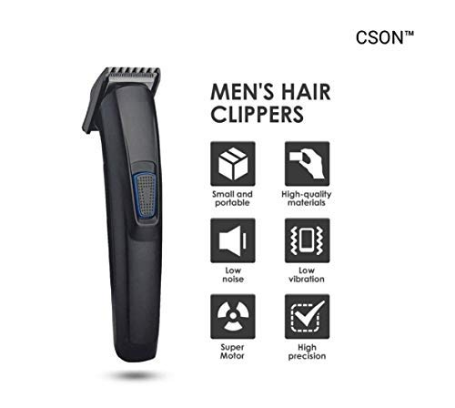 MILAN TRADING HTC AT-522 Professional Hair Clipper Rechargeable Mens DC Trimmer and Beard { Black }
