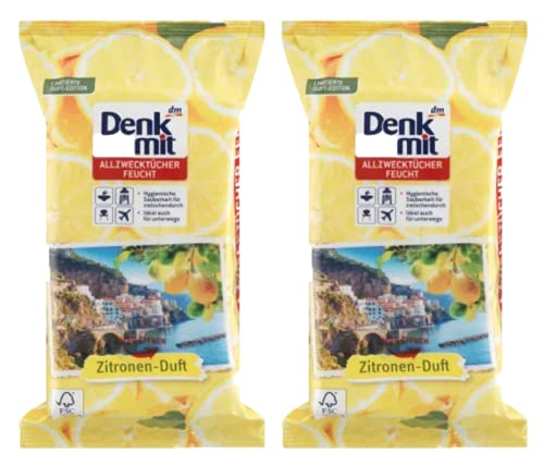 Denkmit Toallitas húmedas multiusos (50 unidades, aroma a limón, 2 unidades)